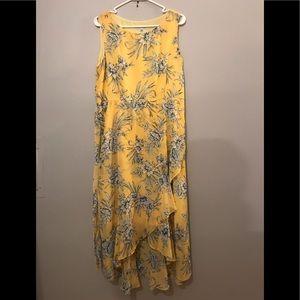 SANDRA DARREN Yellow flower dress